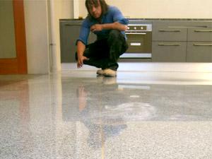 Newly Laid Terrazzo Floor